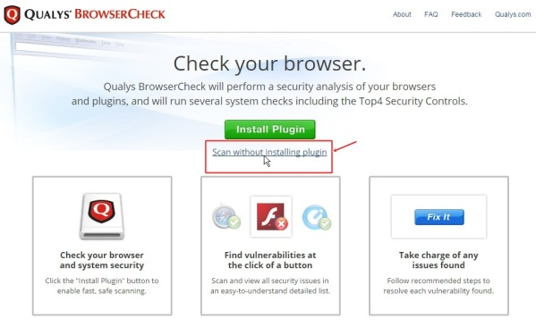 QUALYS-Browser-Check-ohne-Plugin