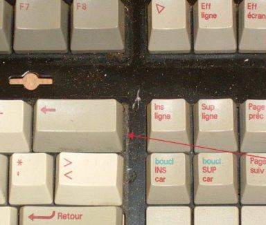 Verdreckte Tastatur